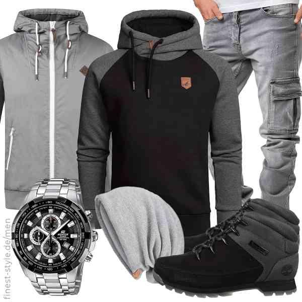 Top herren-Outfit im Finest-Trend-Style für ein selbstbewusstes Modegefühl mit tollen Produkten von !Solid,Amaci&Sons,Amaci&Sons,Casio,VECRY,Timberland