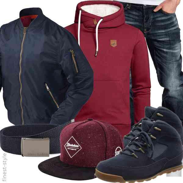 Top herren-Outfit im Finest-Trend-Style für ein selbstbewusstes Modegefühl mit tollen Produkten von KEFITEVD,Amaci&Sons,Amaci&Sons,Urban Classics,Blackskies,Timberland