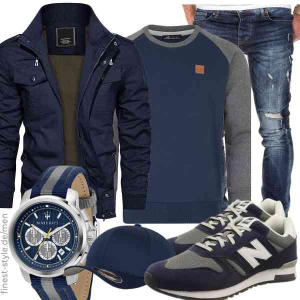 Top herren-Outfit im Finest-Trend-Style für ein selbstbewusstes Modegefühl mit tollen Produkten von KEFITEVD,Amaci&Sons,Amaci&Sons,Maserati,Flexfit,New Balance