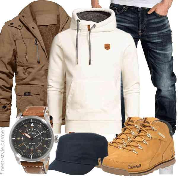 Top herren-Outfit im Finest-Trend-Style für ein selbstbewusstes Modegefühl mit tollen Produkten von MAGCOMSEN,Amaci&Sons,Amaci&Sons,Citizen,Fjällräven,Timberland